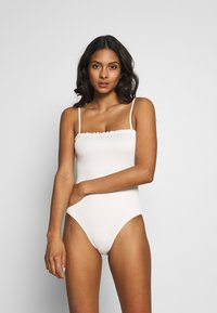 Monki - PAULINE SWIMSUIT - Badeanzug - white light - 1