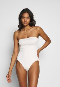 Monki - PAULINE SWIMSUIT - Badeanzug - white light - 3