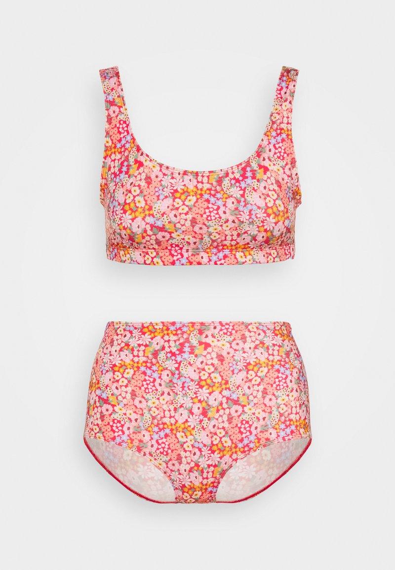 Monki - NILLA SET - Bikini - multicoloured/redmedow