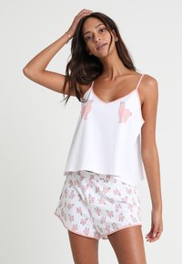 Monki - TANYA SET - Pyjama - white/pink - 0