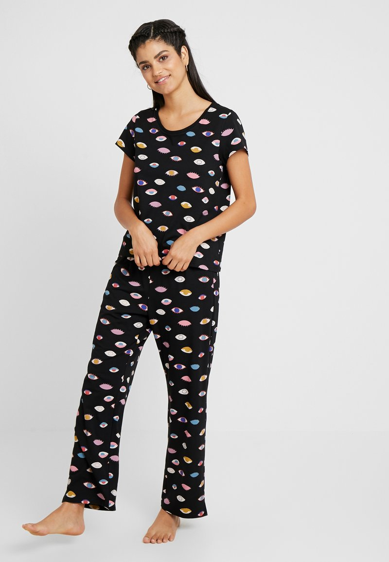 Monki - TAMRA SET - Pijama - black