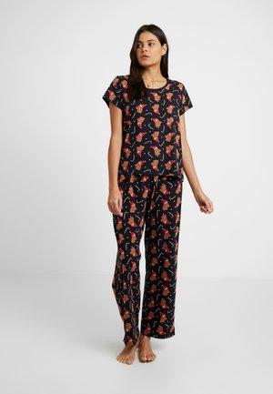 TAMRA SET - Pyžamová sada - black