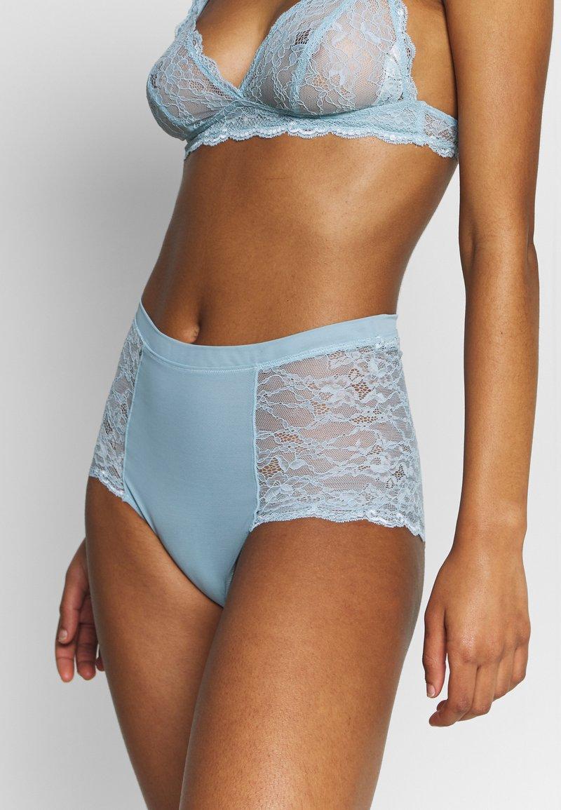 Monki - OMA HIGHT WAIST - Kalhotky/slipy - turquoise