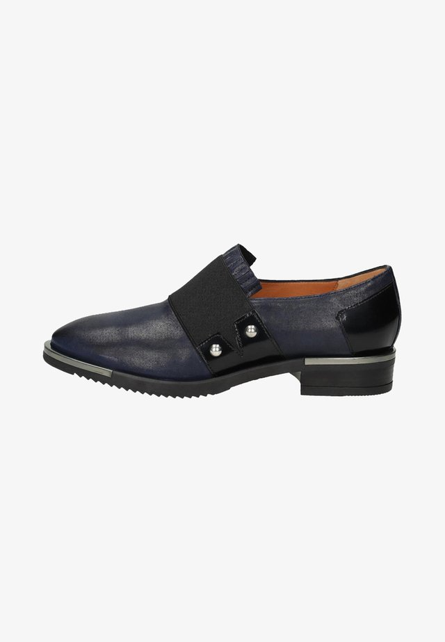 Loafers - blue/black