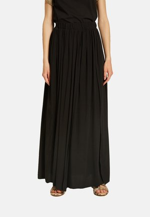MIT MAXI-SCHLITZ - Pleated skirt - nero