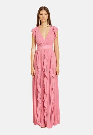 LUNGO PLISSÉ CON VOLANT - Maxi dress - rosa