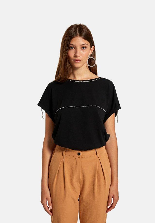 CATENA  - T-shirt con stampa - nero
