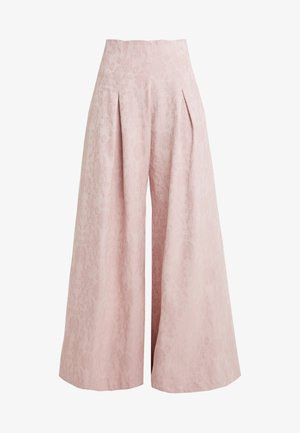 PLEATED FRONT TAILORED TROUSER - Bukser - pink