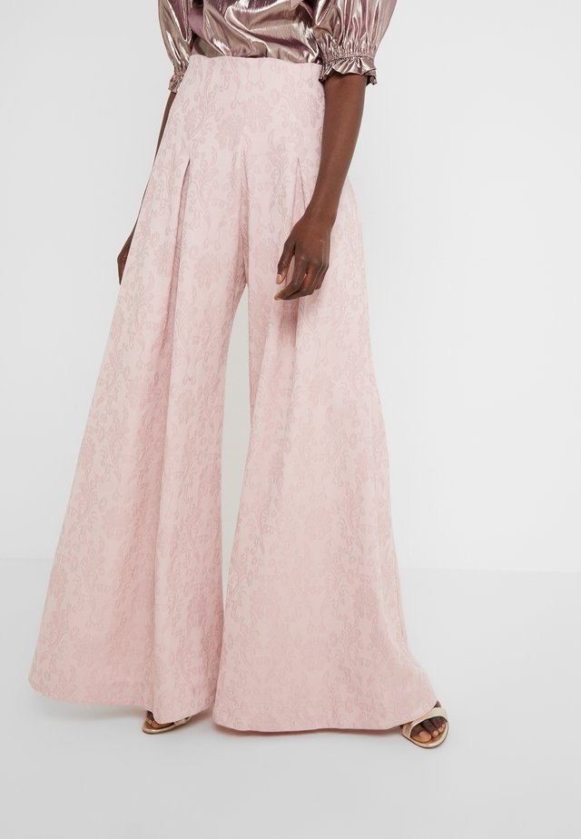 PLEATED FRONT TAILORED TROUSER - Bukse - pink