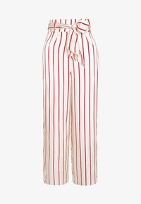 Mother of Pearl - WIDE LEG TROUSER WITH TIE BELT - Kalhoty - red - 4