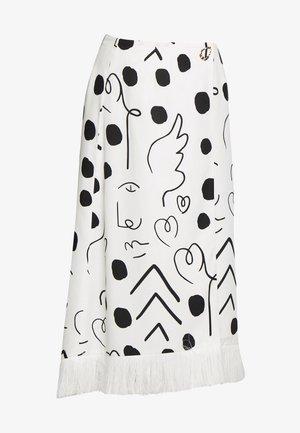 HATTIE - Zavinovací sukně - black/white