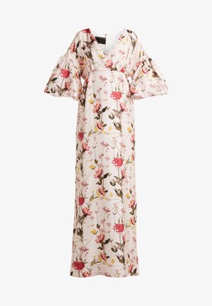 V NECK DRESS WITH PUFF SLEEVE - Denní šaty - pink botonical
