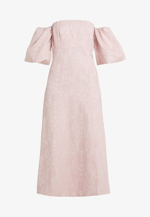 OFF THE SHOULDER DRESS WITH PUFFED SLEEVE - Juhlamekko - pink