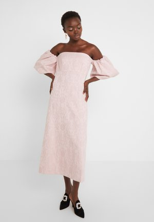 OFF THE SHOULDER DRESS WITH PUFFED SLEEVE - Robe de soirée - pink