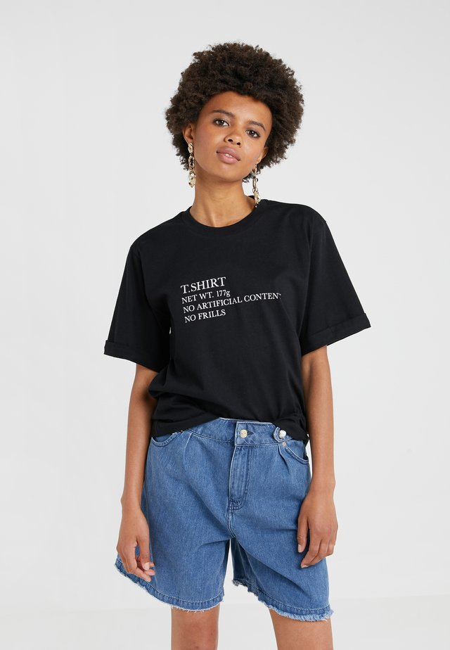 CHARLIE - T-Shirt print - black