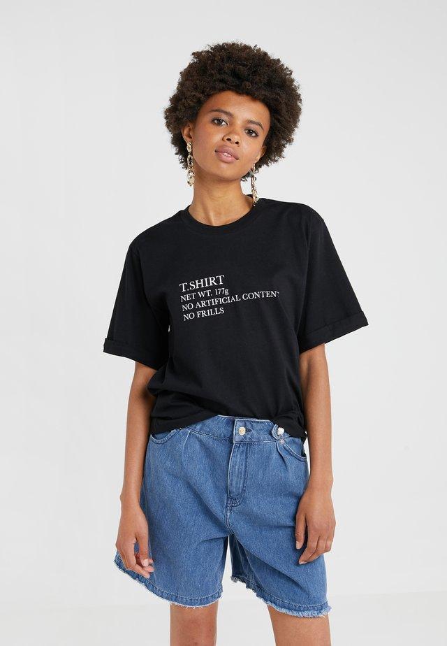 CHARLIE - T-shirts med print - black