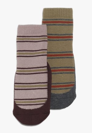 KYOTO BABY 2 PACK - Chaussettes - mustard/rose grey
