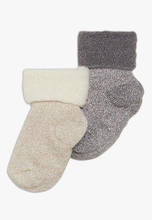 ELIZABETH BABY 2 PACK - Ponožky - grau/beige