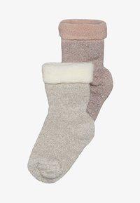 MP Denmark - ELIZABETH BABY 2 PACK - Ponožky - rosa/beige - 2