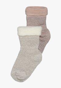 MP Denmark - ELIZABETH BABY 2 PACK - Ponožky - rosa/beige - 0