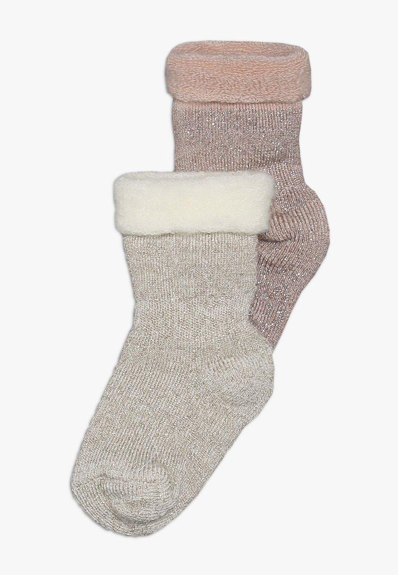 MP Denmark - ELIZABETH BABY 2 PACK - Ponožky - rosa/beige
