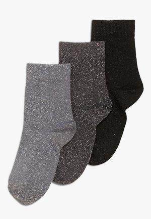 LULU 3 PACK - Ponožky - dark grey melange/stone blue/black