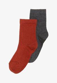 MP Denmark - COPENHAGEN 2 PACK - Ponožky - dark grey melange/rooibos tea - 2