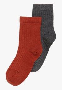MP Denmark - COPENHAGEN 2 PACK - Ponožky - dark grey melange/rooibos tea - 0