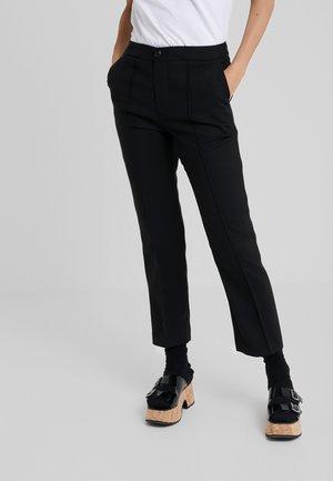 CIGARETTES PANTS - Kalhoty - black