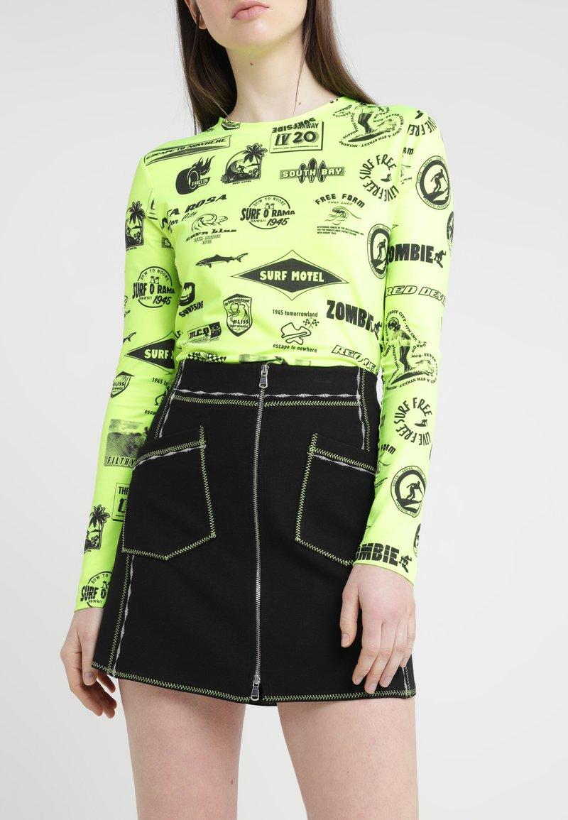 McQ Alexander McQueen - CONTRAST LINE SKIRT - A-line skirt - darkest black