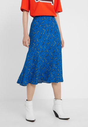 CUT UP SEAM SKIRT - A-line skjørt - skate blue