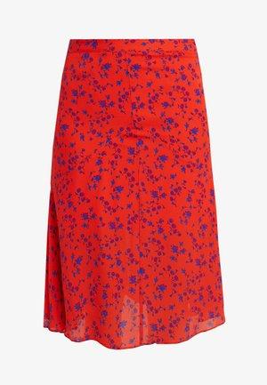 CUT UP SEAM SKIRT - Áčková sukně - blazing orange