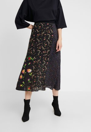 CUT UP SKIRT - A-lijn rok - darkest black