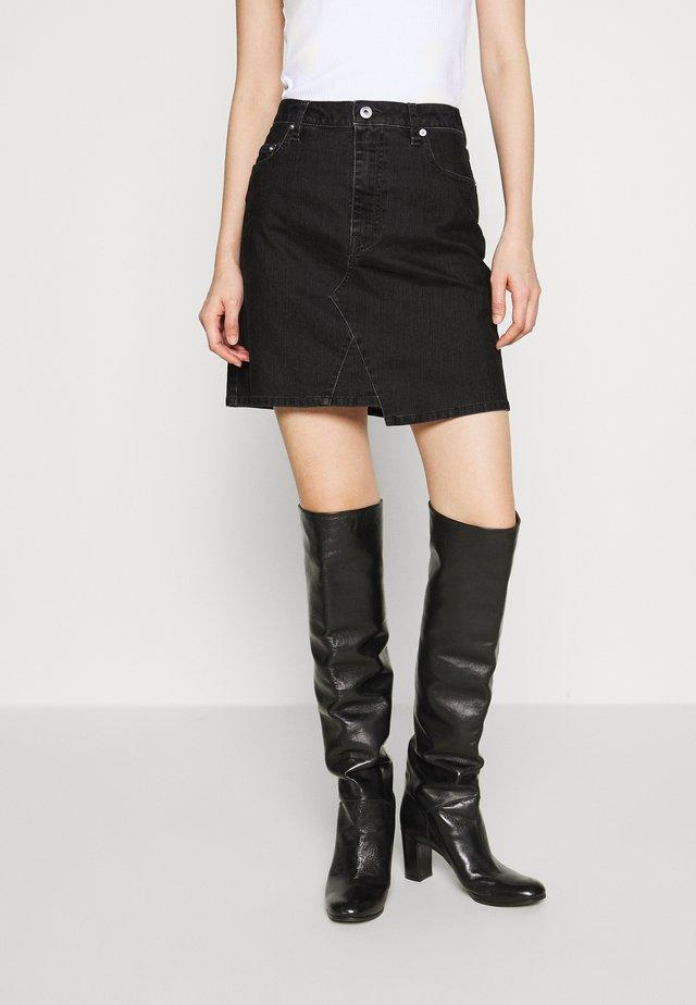 KORIKI SKIRT - Áčková sukně - black