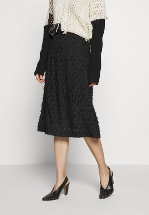 FUMI SKIRT - Áčková sukně - black