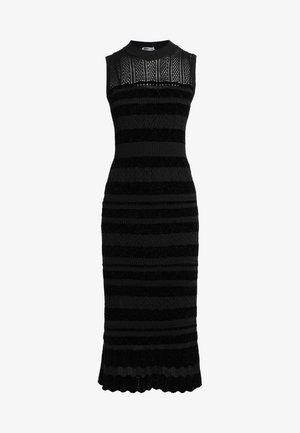 Gebreide jurk - darkest black