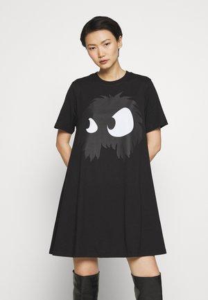 BABYDOLL DRESS - Sukienka z dżerseju - darkest black