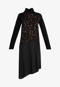 McQ Alexander McQueen - HYBRID DRESS - Sukienka dzianinowa - darkest black - 4