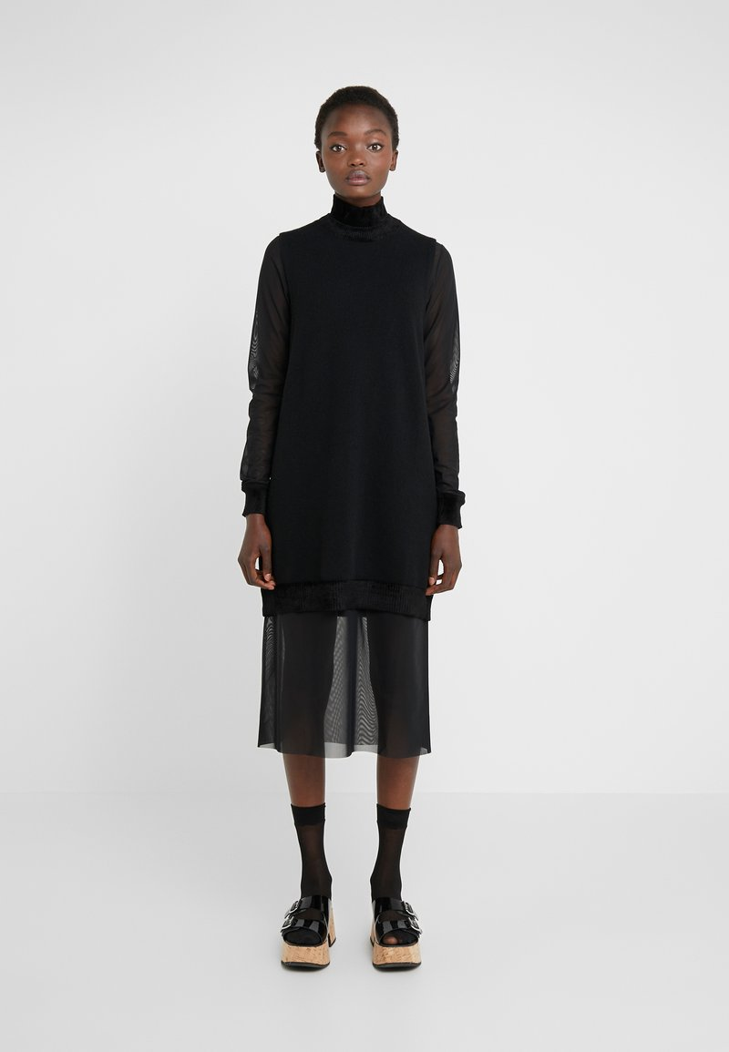 McQ Alexander McQueen - DETACHABLE JUMPER - Day dress - darkest black