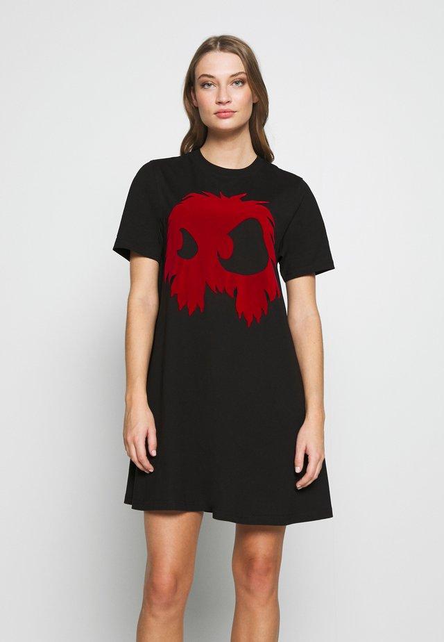 Jerseykjole - darkest black/rouge