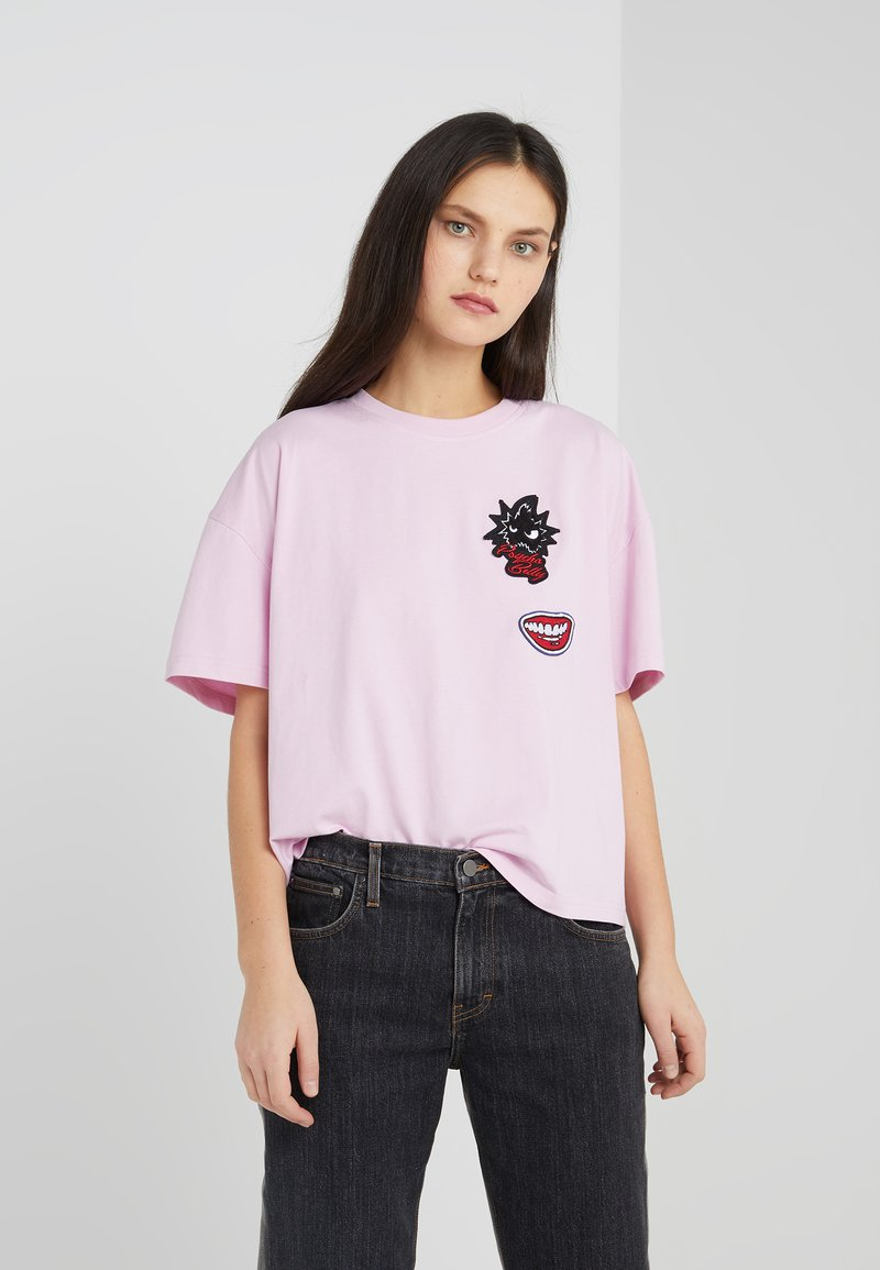 McQ Alexander McQueen - T-shirt print - miami pink