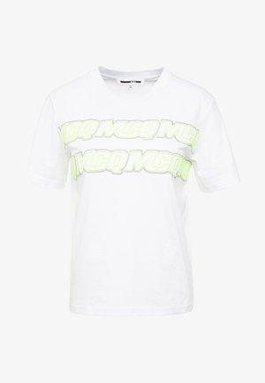BAND TEE - T-shirt imprimé - optic white