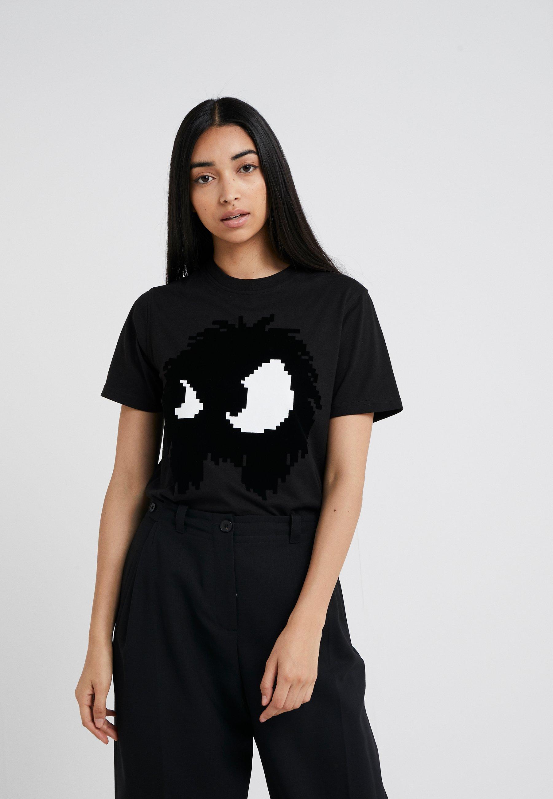 Band shirt TeeT Alexander Mcqueen Imprimé Mcq Black Darkest thrCxQsdoB