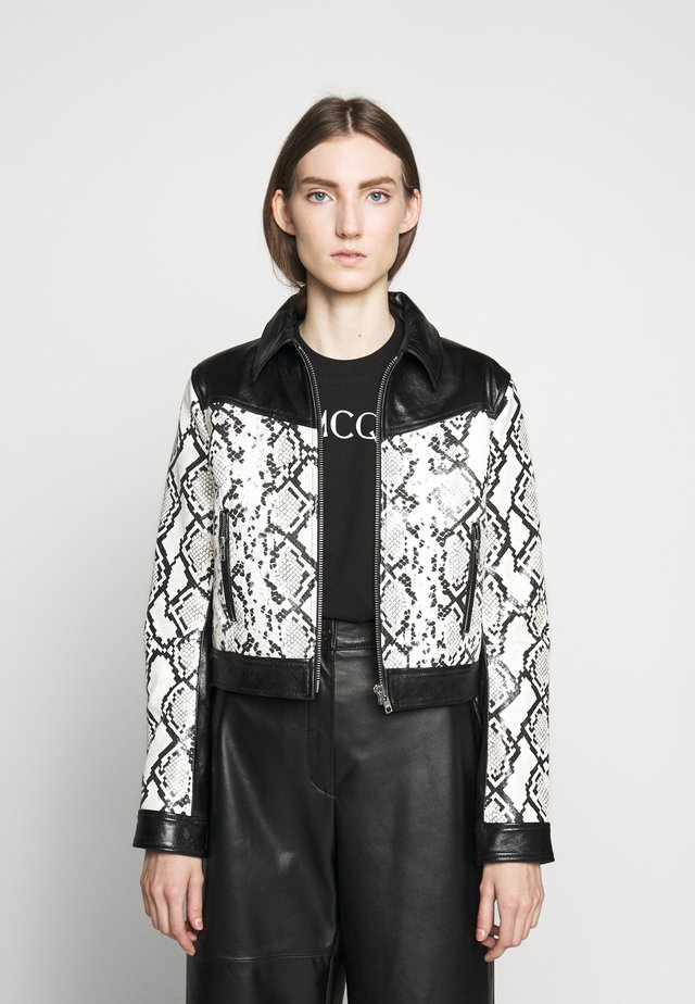 SAKURA JACKET - Veste en cuir - white/black
