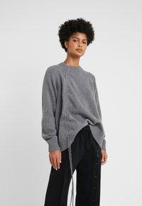 McQ Alexander McQueen - DRAWSTRING - Sweter - grey - 0