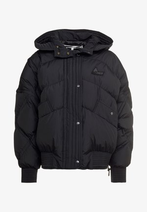 HYBRID PUFFER - Down jacket - darkest black