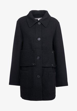 BELTED CABAN COAT - Płaszcz wełniany /Płaszcz klasyczny - black