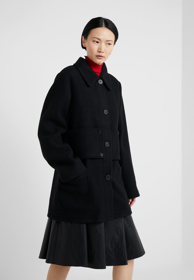 BELTED CABAN COAT - Wollmantel/klassischer Mantel - black