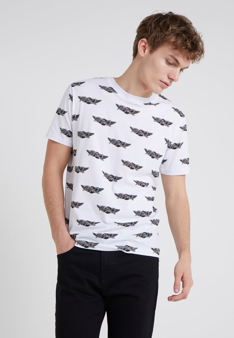 McQ Alexander McQueen - CREW TEE - T-Shirt print - optic white