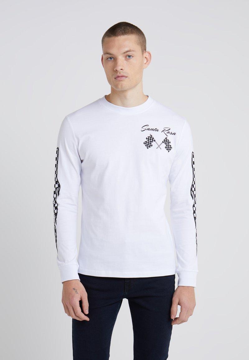 McQ Alexander McQueen - CREW TEE - Bluzka z długim rękawem - optic white